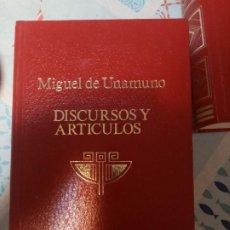 Libros de segunda mano: DISCURSOS Y ARTÍCULOS DE MIGUEL DE UNAMUNO VOL IX -OBRAS COMPLETAS-. Lote 295734383