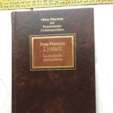 Libros de segunda mano: LA CONDICION POSTMODERNA JEAN FRANCOIS LYOTARD PENSAMIENTO CONTEMPORANEO - LIBRO KREATEN. Lote 297154773