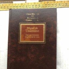 Libros de segunda mano: DEL SENTIMIENTO TRAGICO DE LA VIDA MIGUEL DE UNAMUNO PENSAMIENTO CONTEMPORANEO - LIBRO KREATEN. Lote 297155238