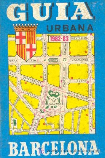 GUIA URBANA BARCELONA 1982 - 1983 / EDIT. PAMIAS (Libros de Segunda Mano - Geografía y Viajes)