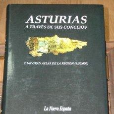 Libros de segunda mano: ASTURIAS A TRAVÉS DE SUS CONCEJOS Y UN GRAN ATLAS DE LA REGIÓN (1:50.000) DE ED. PRENSA ASTURIANA. Lote 25284864