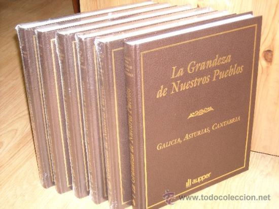 LA GRANDEZA DE NUESTROS PUEBLOS 6T DE EDICIONES AUPPER (EJEMPLAR 1288 DE 3000) EN MADRID (Libros de Segunda Mano - Geografía y Viajes)