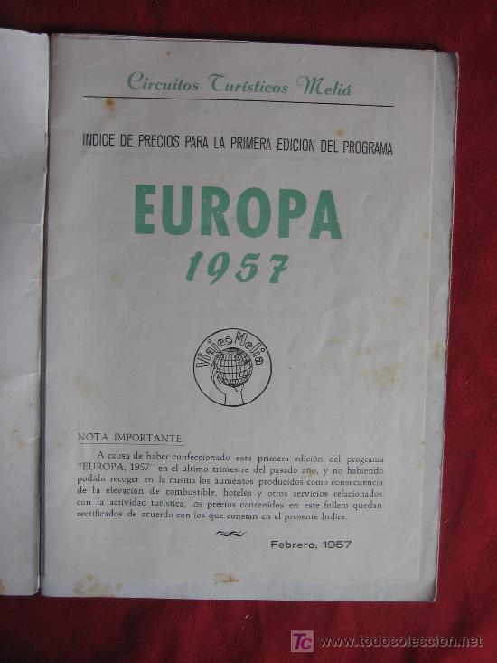 Libros de segunda mano: EUROPA 1957 - Foto 2 - 16332584