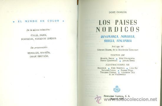DORÉ OGRIZEK Y OTROS: DINAMARCA, NORUEGA, SUECIA, FINLANDIA. (COL. EL MUNDO EN COLOR). MADRID, 1952 (Libros de Segunda Mano - Geografía y Viajes)