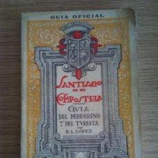 Libros de segunda mano: LIBRO SANTIAGO DE COMPOSTELA GUIA OFICIAL CON PLANOS 1955 . Lote 24082579