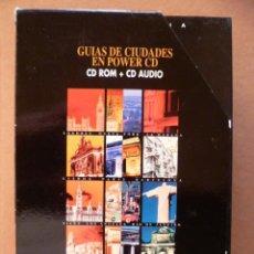 Libros de segunda mano: 12 CDS , GUIAS DE CIUDADES EN POWER CD, CD-ROM + CD AUDIO, (VER FOTOS). Lote 25612147