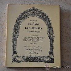 Libros de segunda mano: RECUERDOS DE GRANADA Y DE LA ALHAMBRA POR GIRAULT DE PRANGEY 1 EDICION 1982. Lote 45366238