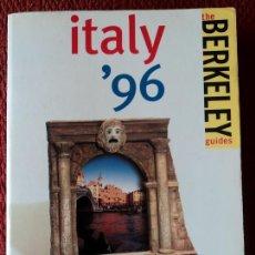 Libros de segunda mano: ITALY´96-THE BERKELEY GUIDES-;FODOR´S 1996(EN INGLÉS). Lote 26721658