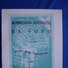 Libros de segunda mano: MONUMENTOS NACIONALES DE TORO ( ZAMORA ) - ( EDICIÓN FACSÍMIL ). Lote 28039451