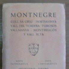 Libros de segunda mano: MAPA EDITORIAL ALPINA. MONTNEGRE. (1966). Lote 28488475