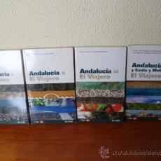 Libros de segunda mano: GUIAS EL VIAJERO DE EL PAIS-ANDALUCIA- I-II-III-IV. Lote 30942790