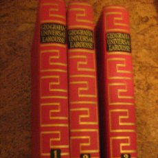 Libros de segunda mano - GEOGRAFIA UNIVERSAL LAROUSSE 3 TOMOS COMPLETA - EDITORIAL PLANETA 1966 - 31096475