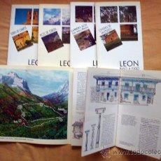 Libros de segunda mano: LEÓN PASO A PASO, RUTAS A PIE, CABRERA, PICOS DE EUROPA, CAMPOS, CAMINO DE SANTIAGO. Lote 31189175