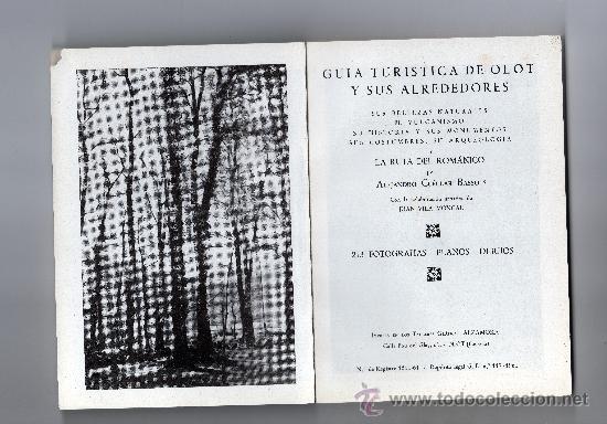 Libros de segunda mano: GUIA TURÍSTICA DE OLOT por ALEJANDRO CUÉLLAR, 213 FOT. PLANOS, DIBUJOS, INCLUYE GUIA COMERCIAL - Foto 2 - 32091766