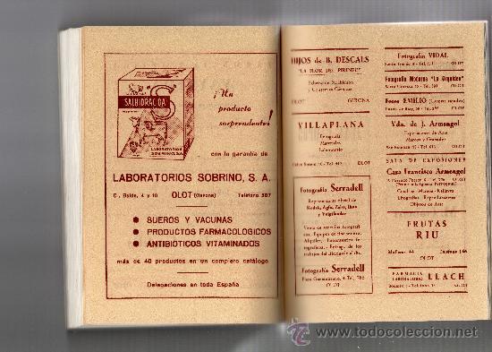 Libros de segunda mano: GUIA TURÍSTICA DE OLOT por ALEJANDRO CUÉLLAR, 213 FOT. PLANOS, DIBUJOS, INCLUYE GUIA COMERCIAL - Foto 8 - 32091766