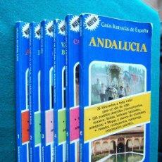 Libros de segunda mano: GUIAS ILUSTRADAS DE ESPAÑA - COMPLETA 6 TOMOS - 204 ITINERARIOS - 3.075 PUEBLOS - 1984 - 1ª EDICION . Lote 32747024