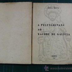 Libros de segunda mano: A PELENGRINAXE AO XACOBE DE GALICIA. XESÚS CARRO. GALAXIA 1965. 1ª ED.. Lote 33603598