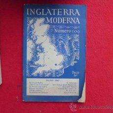 Libros de segunda mano: LIBRO INGLATERRA MODERNA Nº 109 1945 L-2264. Lote 34137032