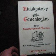 Libros de segunda mano: HIDALGUIAS Y GENEALOGIAS DE LAS ENCARTACIONES DE VIZCAYA, LAFARGA LOZANO, NUEVO , HERALDICA. Lote 194775626