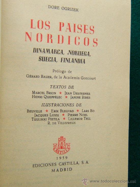 Libros de segunda mano: LOS PAISES NORDICOS - DINAMARCA, NORUEGA, SUECIA Y FINLANDIA - DORE OGRIZEK - 1959 - 2ª EDICION - Foto 3 - 34459627