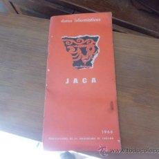 Libros de segunda mano: LIBRO DATOS INFORMATIVOS JACA 1966 L-2933. Lote 35794383