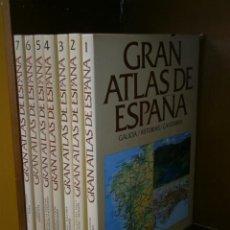 Libros de segunda mano: GRAN ATLAS DE ESPAÑA 7T DE EDITORIAL PLANETA EN BARCELONA 1990 SEGUNDA EDICIÓN. Lote 85282360