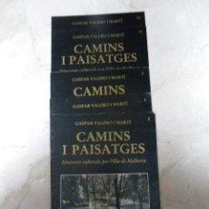 Libros de segunda mano: CAMINS I PAISATGES. GASPAR VALERO. 77 FASCÍCULOS. ED OLAÑETA. (CAT). Lote 36039651