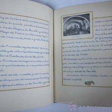 Libros de segunda mano: BARCELONA. MONUMENTOS HISTÓRICOS - ALBUM MANUSCRITO CON FOTOGRAFÍAS PEGADAS - 1953-1954. Lote 36587412