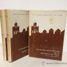 Libros de segunda mano: CATALOGO MONUMENTAL DE AVILA. MANUEL GOMEZ-MORENO. 3 TOMOS. COMPLETA.. Lote 36668460