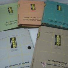 Libros de segunda mano: 5 CARPETAS RUTAS CATALUÑA - PONENT PIRINEOS LITORAL BARCELONA Y CENTRAL. Lote 38098418