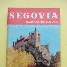 Libros de segunda mano: SEGOVIA. LOZOYA. NOGUER.1965. Lote 38291867