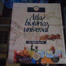 Libros de segunda mano: 1 LIBRO TAPA DURA - ATLAS HISTÓRICO UNIVERSAL - EL PAIS / AGUILAR 1995 - COMPLETO A FALTA DE ENCUADE. Lote 38420609