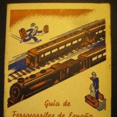 Libros de segunda mano: GUIA DE FERROCARRILES DE ESPAÑA. ARENYS DE MUNT. 1936. FABRICA DE LICORES ENRIC LLADÓ. 12 X 8,5 CM. Lote 38422238