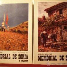 Libros de segunda mano - MEMORIAL DE SORIA. RELATOS - IMAGENES. MIGUEL MORENO. 1985. 2 TOMOS. - 40163430