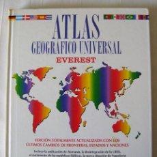 Libros de segunda mano: ATLAS GEOGRÁFICO UNIVERSAL. EVEREST. 1993. Lote 40702880