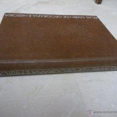 Libros de segunda mano: ATLAS MARIN DE GOEGRAFÍA E HISTORIA. 1970. REIMP. 1971. 25X35, CON CAJA ESTUCHE. Lote 40834881