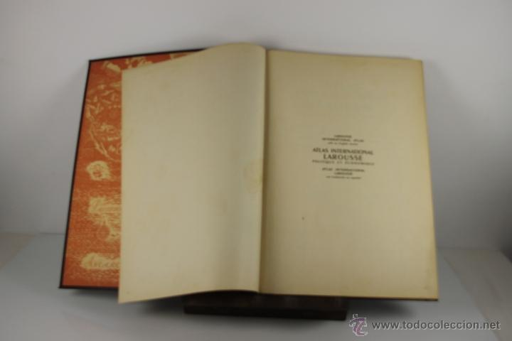 4416- ATLAS INTERNACIONAL LAROUSSE. JEAN CHARDONNET. EDIT. LAROUSSE. 1957. (Libros de Segunda Mano - Geografía y Viajes)