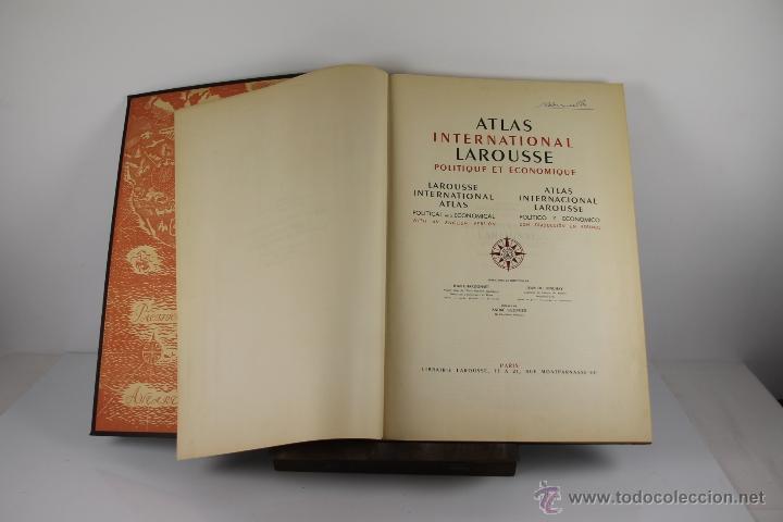 Libros de segunda mano: 4416- ATLAS INTERNACIONAL LAROUSSE. JEAN CHARDONNET. EDIT. LAROUSSE. 1957. - Foto 2 - 41335620