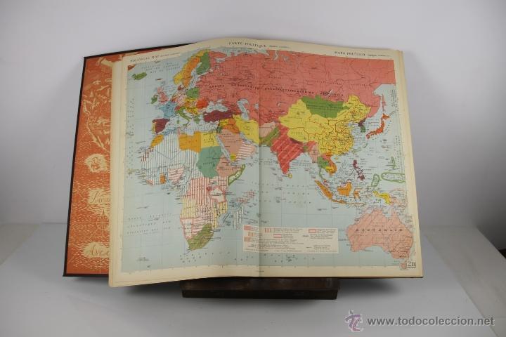 Libros de segunda mano: 4416- ATLAS INTERNACIONAL LAROUSSE. JEAN CHARDONNET. EDIT. LAROUSSE. 1957. - Foto 3 - 41335620