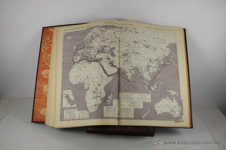 Libros de segunda mano: 4416- ATLAS INTERNACIONAL LAROUSSE. JEAN CHARDONNET. EDIT. LAROUSSE. 1957. - Foto 5 - 41335620
