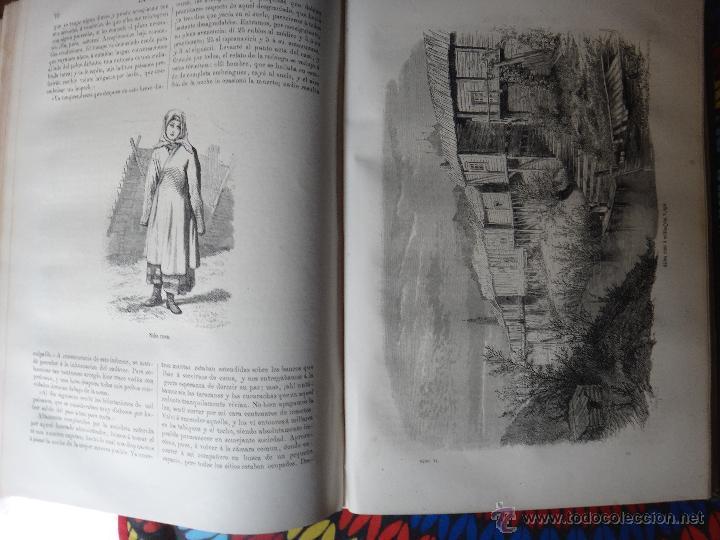 Libros de segunda mano: LIBRO, LA VUELTA AL MUNDO , 6 TOMOS EN 3 VOLUMENES, 1869 1872, GRABADOS, GASPAR Y ROIG, ORIGINAL - Foto 2 - 63560523