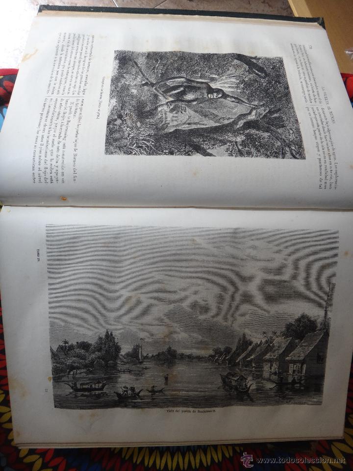Libros de segunda mano: LIBRO, LA VUELTA AL MUNDO , 6 TOMOS EN 3 VOLUMENES, 1869 1872, GRABADOS, GASPAR Y ROIG, ORIGINAL - Foto 5 - 63560523