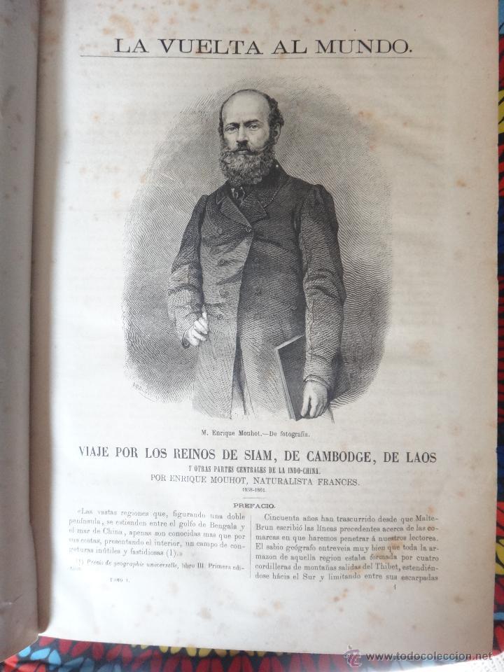 Libros de segunda mano: LIBRO, LA VUELTA AL MUNDO , 6 TOMOS EN 3 VOLUMENES, 1869 1872, GRABADOS, GASPAR Y ROIG, ORIGINAL - Foto 7 - 63560523