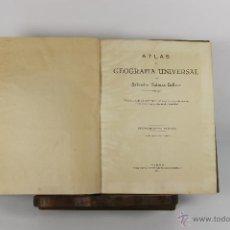 Libros de segunda mano: D-329. ATLAS GEOGRAFICO UNIVERSAL. SALVADOR SALINAS. LIT. FERNANDEZ GONZALO DE CORDOBA. 1944. . Lote 42648405