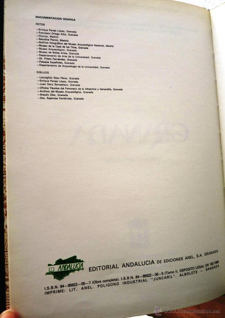Libros de segunda mano: GRANADA- 4 tomos- 1981-82- Muy buen estado- - Foto 5 - 43041812