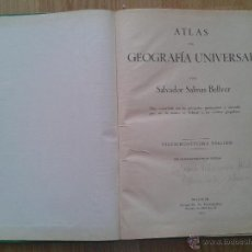 Libros de segunda mano - ATLAS DE GEOGRAFIA UNIVERSAL-salvador salinas bellver-vigesimoseptima edicion-1951 - 43072159