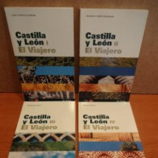 Libros de segunda mano: COLECCIÓN GUÍAS EL VIAJERO / EL PAÍS - CASTILLA Y LEÓN I / II / III / IV. COMO NUEVOS. Lote 177734332