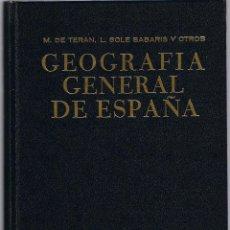 Libros de segunda mano: GEOGRAFIA GENERAL DE ESPAÑA - TOMO I - DE TERAN - SOLE SABARIS - 1983 - EDI ARIEL - FOTO ADICIONAL. Lote 44727312