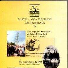 Libros de segunda mano: EKL MISCEL·LÀNIA D'ESTUDIS SANT JUST DESVERN HISTORIA. Lote 45286633