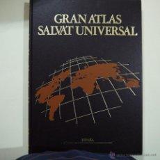 Libros de segunda mano: GRAN ATLAS SALVAT UNIVERSAL 4 TOMOS - SALVAT - 1996. Lote 46387554